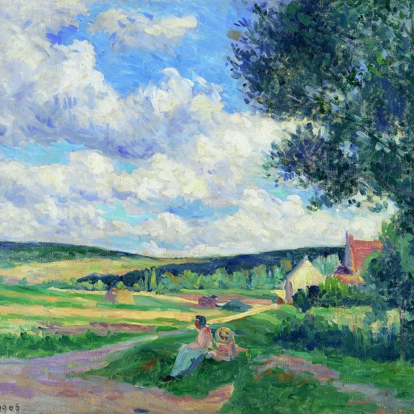 Yonne, the Road to Vermenton