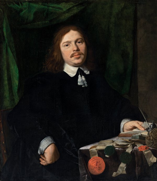 Portrait of a Man with Documents. Retrato de un hombre con documentos, c. 1655