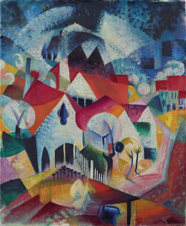 Group of Houses in Spring. Grupo de casas en primavera, 1916