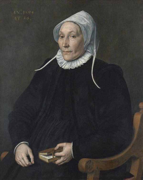 Portrait of a Woman aged Fifty-six . Dama de cincuenta y seis años, 1594