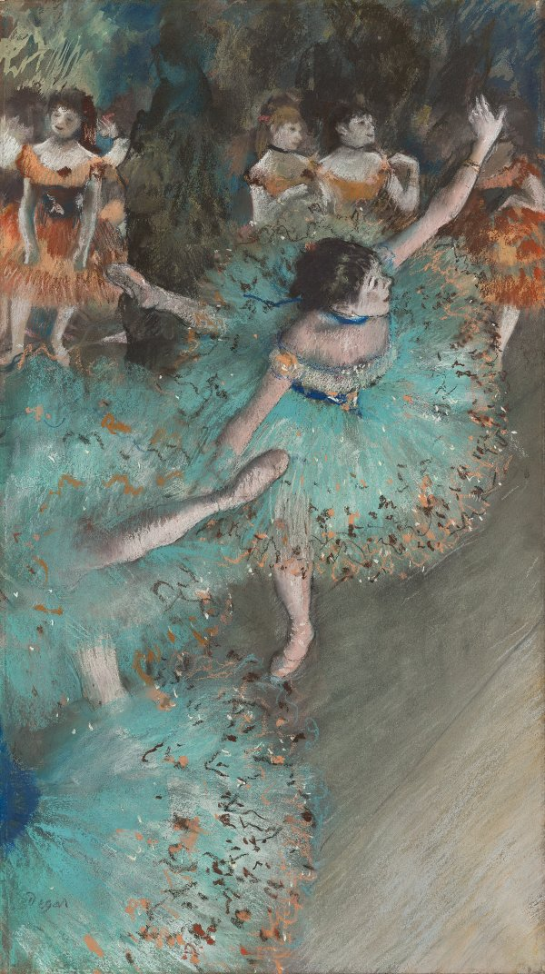 Swaying Dancer Dancer In Green Degas Edgar Museo Nacional