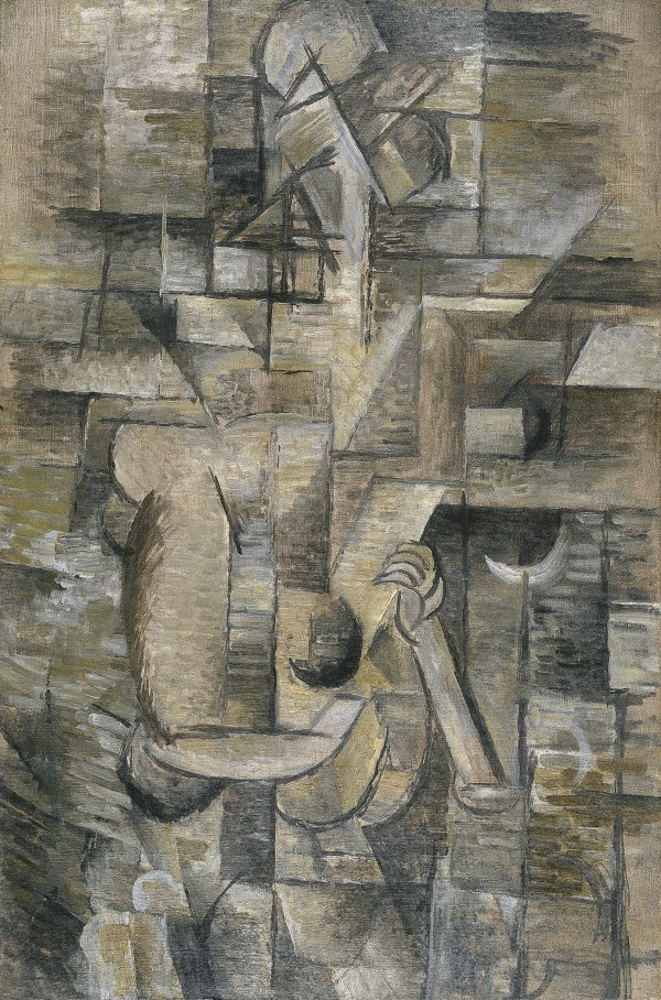 woman with a mandolin braque georges museo nacional thyssen