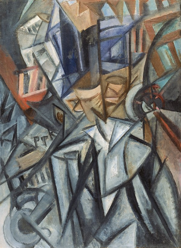 Man on the Street (Analysis of Volumes). Hombre en la calle (Análisis de volúmenes), 1913