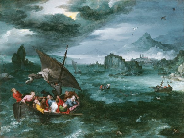 Christ in the storm on the sea of galilee brueghel i jan the miniatura publicscrutiny