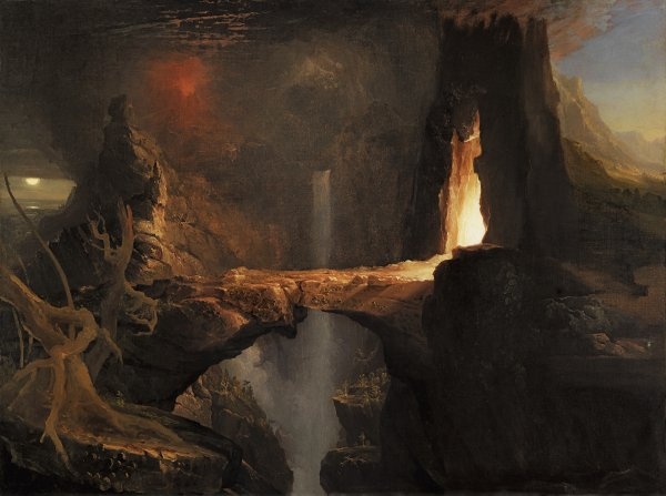 Expulsion. Moon and Firelight. Expulsión. Luna y luz de fuego, c. 1828